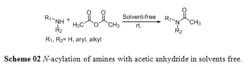 An eco-friendly and highly efficient route for N-acylation