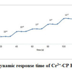 Fig.4. The Dynamic response time of Cr3+-CP E.