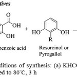 Scheme 1: Reagents and conditions of synthesis: (a) KHCO3, Aquadest, reflux, 4 h; (b) Eaton's acid, heated to 80°C, 3 h