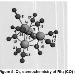 Figure 5: C3v stereochemistry of Rh4 (CO)12