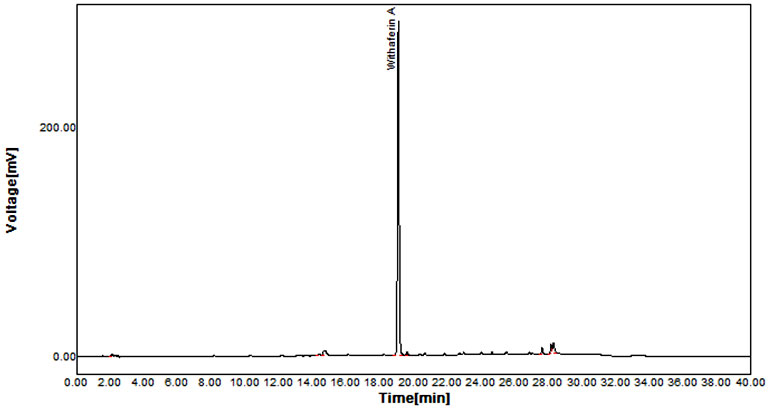 Extraction and Isolation of Withaferin a ( Steroidal Lactone