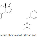 Scheme 1: Structure chemical of estrone and OTBS-estrone.