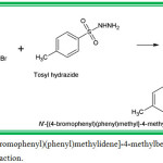 Figure 1: N'-[(E)-(4-Bromophenyl)(phenyl)methylidene]-4-methylbenzenesulfonohydrazide molecules synthesis reaction.