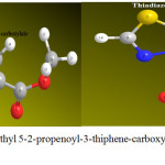 Figure 3: optimization of Methyl 5-2-propenoyl-3-thiphene-carboxylate and Thiadiazolo-pyrimidines derivatives (1)