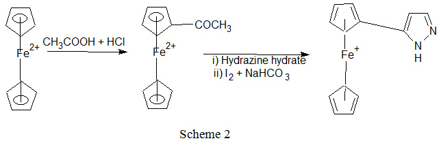 Ferrocenyl Substituted Pyrazoles, Synthesis Via Novel Route